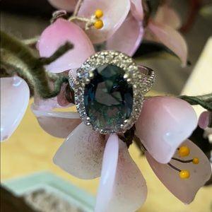 Vintage 925 tanzanite & topaz ring
